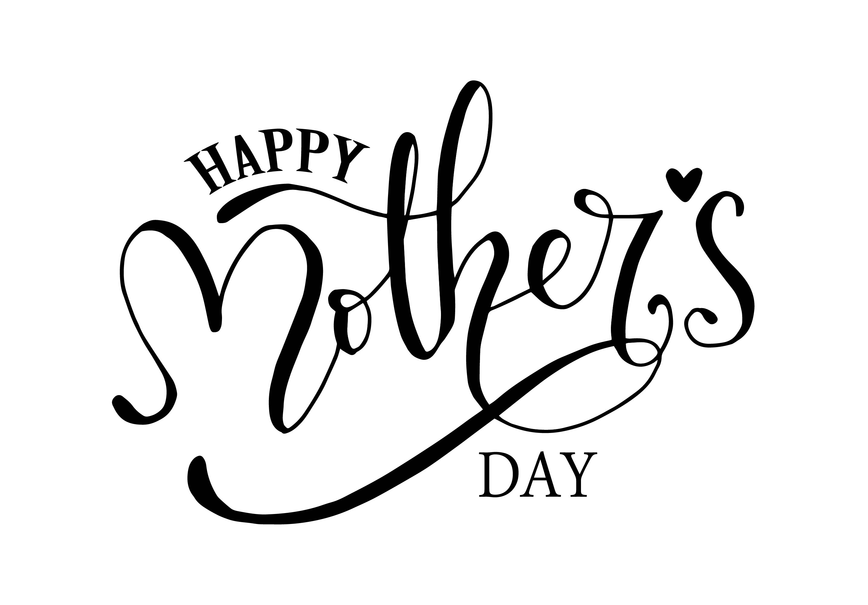 Happy Mother's Day, Hand Lettering SVG File