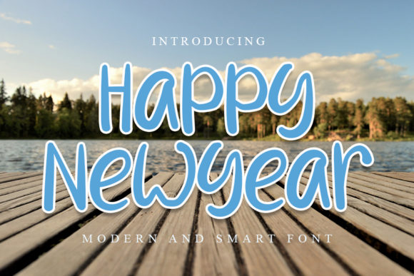 Print on Demand: Happy New Year Script & Handwritten Font By NYA Letter
