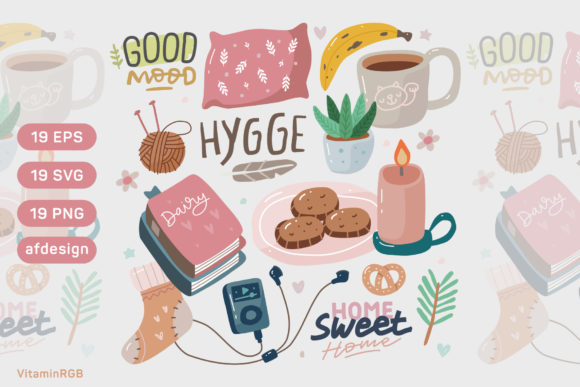 Hygge Doodle Set Graphic Illustrations By VitaminRGB