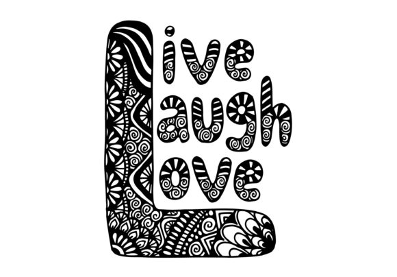 Live Laugh Love, Hand Lettering Graphic Crafts By Santy Kamal