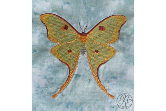 Luna Moth - ITH Embroidery Download