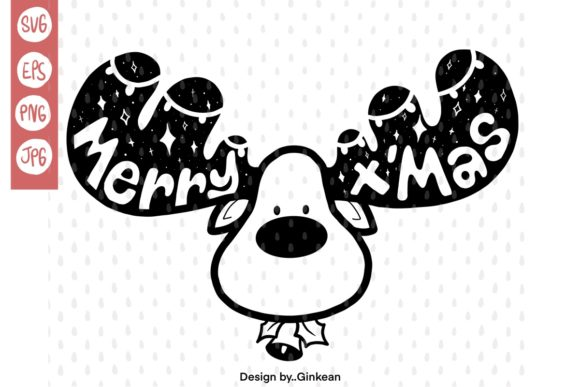 Print on Demand: Merry X'mas Graphic Graphic Templates By Ginkean