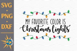 Print on Demand: My Favorite Color is Christmas Light Bun Graphic Crafts By SVGStoreShop