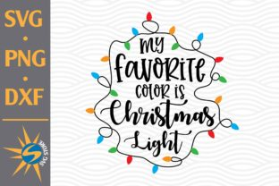 Print on Demand: My Favorite Color is Christmas Light Graphic Crafts By SVGStoreShop