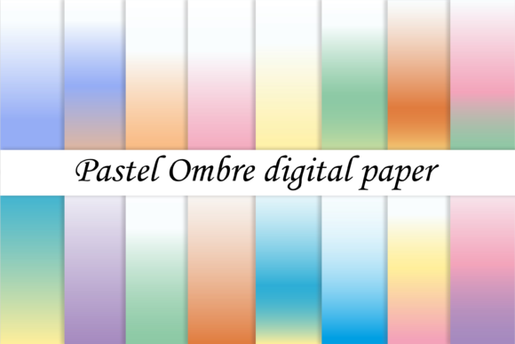 Ombre Digital Paper Gradient Background Graphic Backgrounds By CuteShopClipArt
