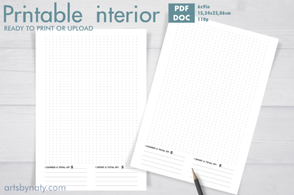Print on Demand: Printable Bujo for Financial Tracker. Graphic KDP Interiors By artsbynaty