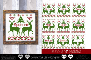 Print on Demand: Reindeer Names Graphic Crafts By SweetDesignFactory