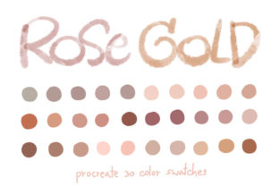 Rose Gold - Procreate Color Palettes Graphic Add-ons By Wanida Toffy