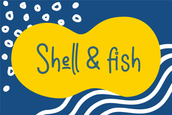 Print on Demand: Shell & Fish Script & Handwritten Font By dickysyafaat