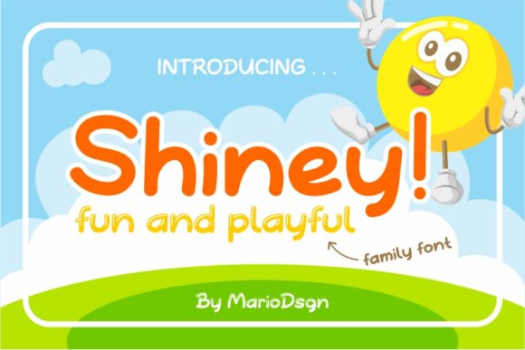 Print on Demand: Shiney Display Font By MarioDsgn