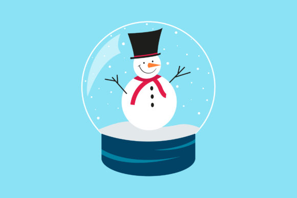 Snowman Background Graphic Illustrations By SandyStore