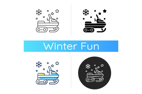 Print on Demand: Snowmobile Icon Graphic Icons By bsd studio