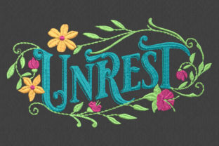 Unrest House & Home Quotes Embroidery Design By DNE embroidery