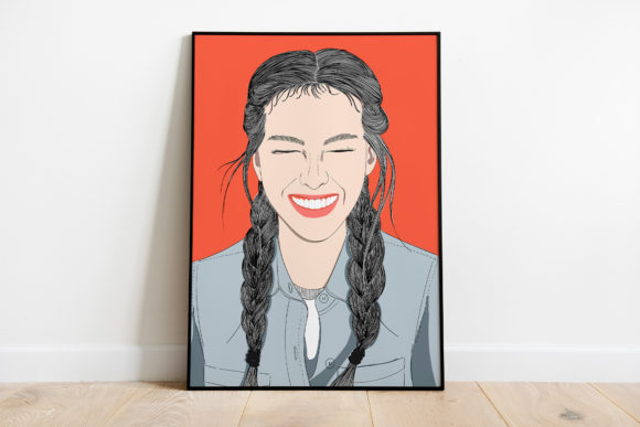 Print on Demand: Wall Art Bright Smile Girl Graphic Illustrations By Saydung89