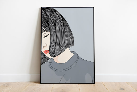 Print on Demand: Wall Art  Girl is Sad Graphic Illustrations By Saydung89