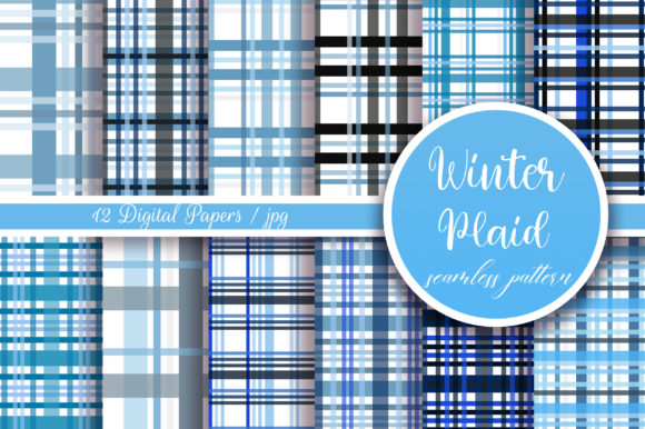 Winter Plaid Seamless Pattern Graphic Patterns By PinkPearly
