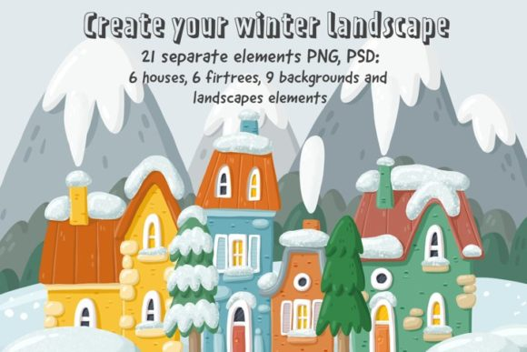 Print on Demand: Winter Landscape Creator Graphic Illustrations By Architekt_AT