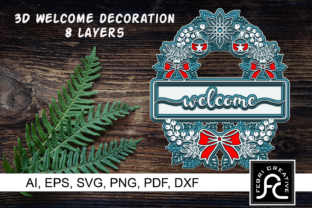 Print on Demand: 3D Christmas Welcome Decorations Graphic 3D Christmas By Febri Creative