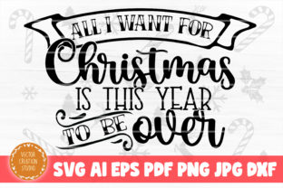 Print on Demand: All I Want for Christmas SVG Cut File Graphic Crafts By VectorCreationStudio