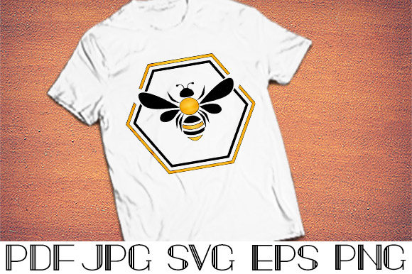 Print on Demand: Beautiful Bee Cut File Svg Graphic Crafts By Designora