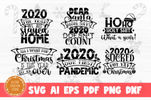 Print on Demand: Christmas 2020 SVG Bundle Cut Files Graphic Crafts By VectorCreationStudio 3