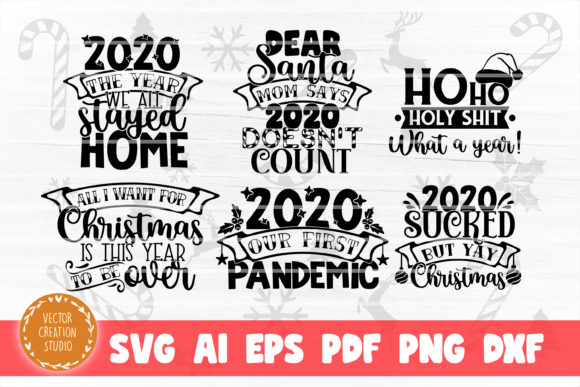 Christmas 2020 SVG Bundle Cut Files Graphic Item
