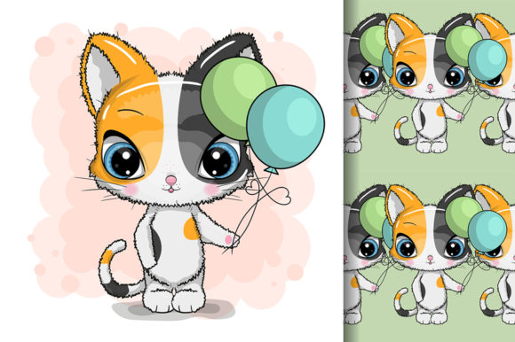 Happy Birthday Funny Cat Design Graphic Illustrations By maniacvector