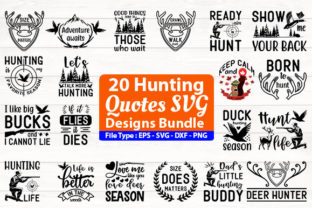 Print on Demand: Hunting SVG Design Bundle Gráfico Plantillas para Impresión Por Design Store