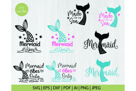 Print on Demand: Mermiad Svg Cut Files Graphic Crafts By DIYCUTTINGFILES