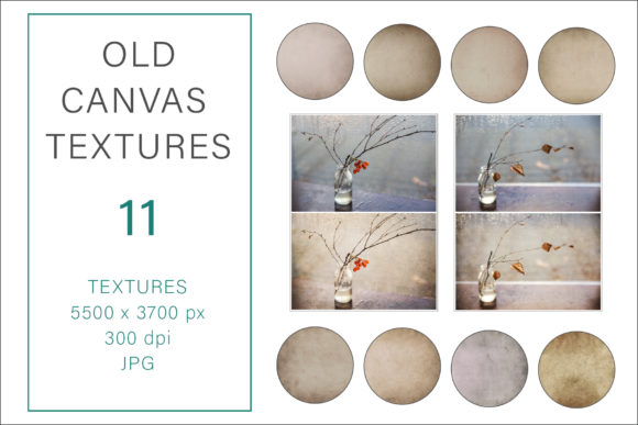 Print on Demand: Old Canvas Textures, Photography Texture Graphic Photos By AS Digitale