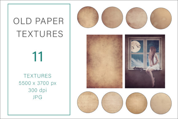 Print on Demand: Old Paper Textures, Photography Textures Graphic Photos By AS Digitale