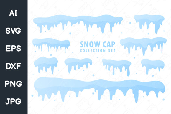 Print on Demand: Snow Cap Collection. White Snow Falling Graphic Illustrations By CRStocker