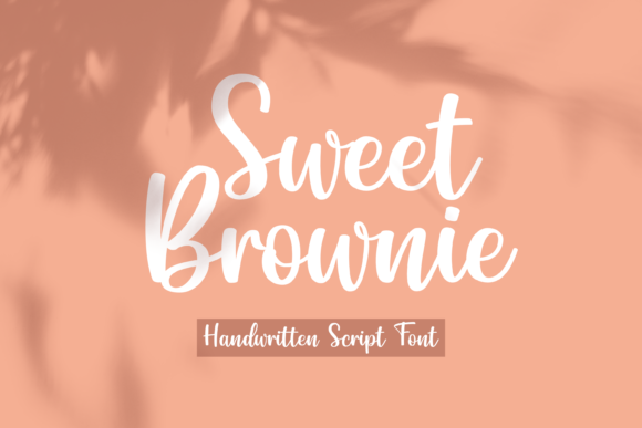 Print on Demand: Sweet Brownie Manuscrita Fuente Por Typestory