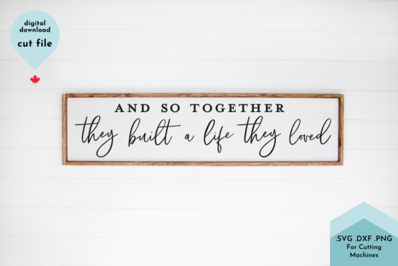 Print on Demand: Together Family Sign Bedroom over Bed Graphic Crafts By Lettershapes