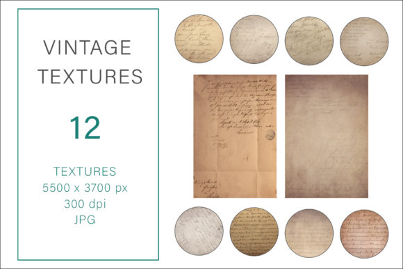 Print on Demand: Vintage Textures, Old Paper Textures Graphic Photos By AS Digitale