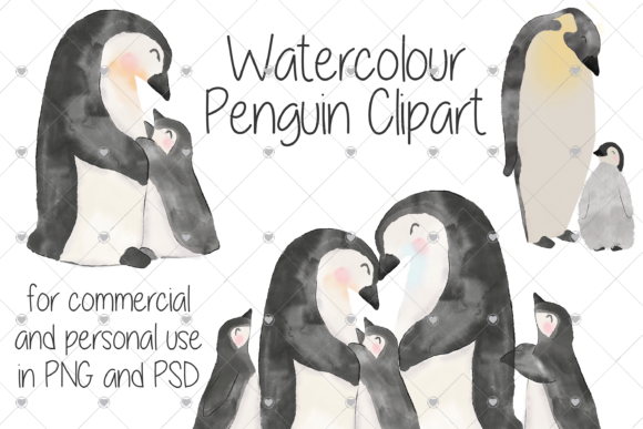 Print on Demand: Watercolour, Baby, Penguins, Zoo, Graphic Illustrations By essexprintingservice