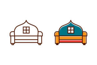 Print on Demand: Chair Home Logo Graphic Icons By noory.shopper