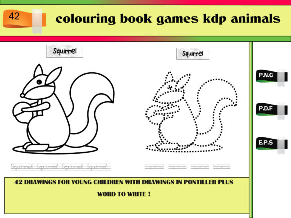 Print on Demand: Colouring Book Games Kdp Animals Graphic KDP Interiors By kdp Edition