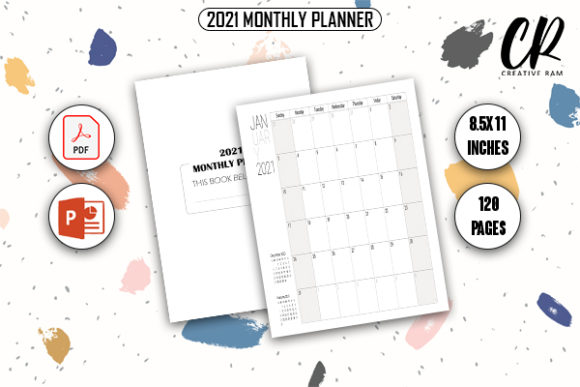 2021 Monthly Planner - KDP Interior Graphic KDP Interiors By Creative Ram