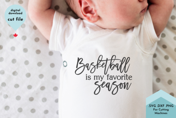 Print on Demand: Basketball is My Favorite Season Svg Graphic Crafts By Lettershapes