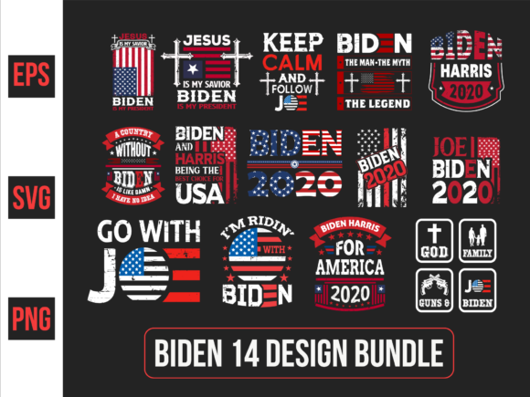 Print on Demand: Biden Typographic Slogan Design . Graphic Print Templates By ajgortee