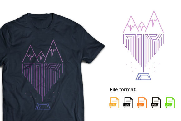 Camping Geometric Graphic Illustrations By hello.teeszone