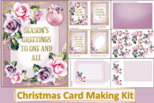 Print on Demand: Christmas Card Making Kit JPEG and PDF Graphic Crafts By The Paper Princess