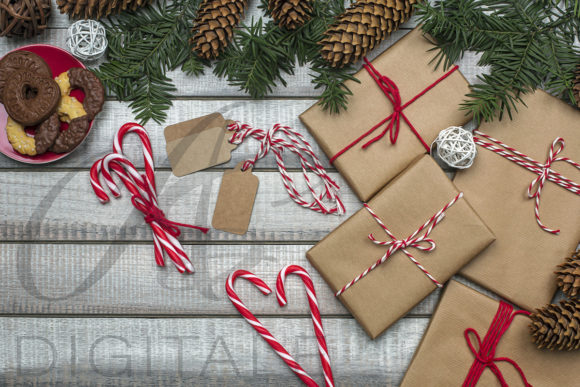 Print on Demand: Christmas Gifts Styled Stock Photography Graphic Photos By AS Digitale
