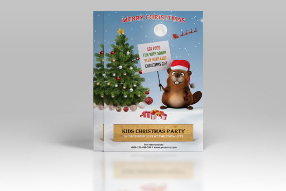 Print on Demand: Christmas Party Invitation Flyer Graphic Print Templates By sistecbd