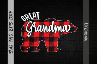 Print on Demand: Great Grandma Bear Red Plaid Christmas Graphic Crafts By Utenbaw