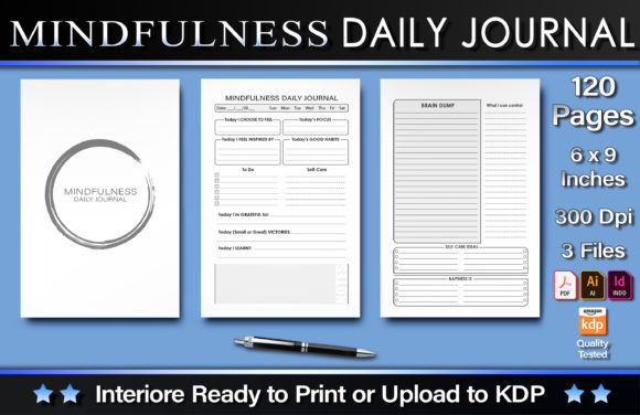 Mindfulness Daily Journal Graphic