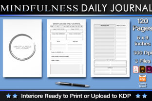 Print on Demand: Mindfulness Daily Journal Graphic KDP Interiors By okdecoconcept