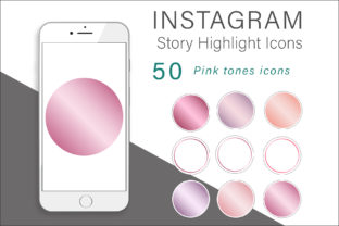 Print on Demand: Pink Tones Instagram Highlights Icons Graphic Icons By AS Digitale
