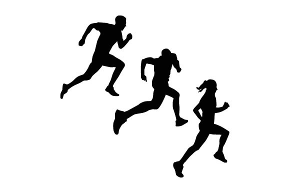 Print on Demand: Silhouette of Running People Collection Graphic Illustrations By Muhammad Rizky Klinsman